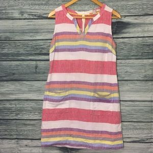 Striped Linen Boden Dress